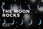 月球岩石表面纹理