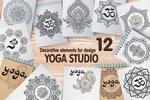 瑜伽装饰图案