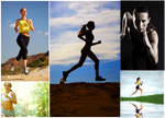 跑步健身女人