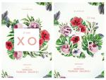 夏日手绘花卉海报