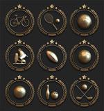 古铜质感体育图标