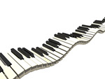 波动的琴键