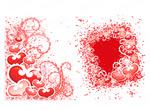 心形、圆点和花纹