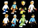 8种卡通职业人物