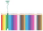 矢量彩色铅笔