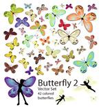 矢量42款蝴蝶