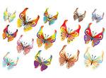 矢量14款蝴蝶