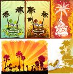 椰子树主题插画