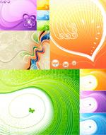 矢量动感线条插画
