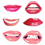 嘴巴矢量素材-1