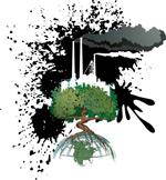 被污染的地球