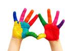 五颜六色的双手