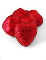 红色心形巧克力