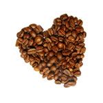 咖啡豆心型