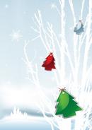 矢量圣诞节雪景