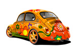 花朵汽车矢量