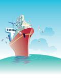 轮船主题插图