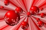 红色雪花圆球