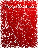 涂鸦风格圣诞树