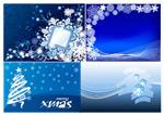 圣诞节雪花背景2