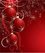 红色圣诞装饰球