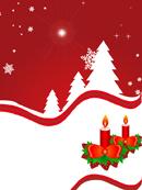 蜡烛与圣诞树