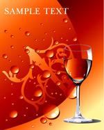 红酒杯与水珠