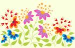 蝴蝶形状花朵