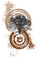 大树主题插画
