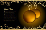 圣诞节花纹挂球