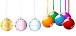 圣诞节圆球矢量