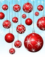 红色圣诞节雪花圆