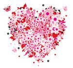 花朵情人节心形