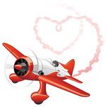 飞机喷出心形烟雾