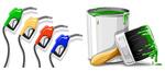 加油器与油漆桶