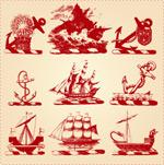 古典船只矢量