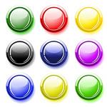 圆形水晶按钮
