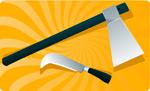 斧头和刀子