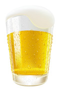 一杯啤酒矢量