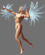 翅膀女人模型