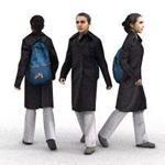 行走人物模型