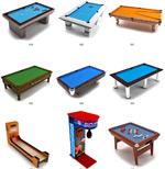 精品台球桌模型