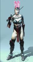 Game female warrior model