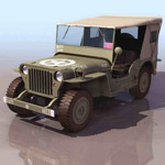 Military jeep model