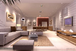 Stylish living room model