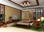 Chinese classical style living room