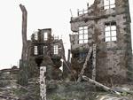 Ruins scene 3D model
