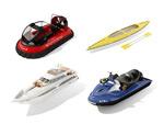 摩托艇游模型
