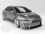 Mitsubishi sports car 3D model