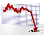股票大跌图片